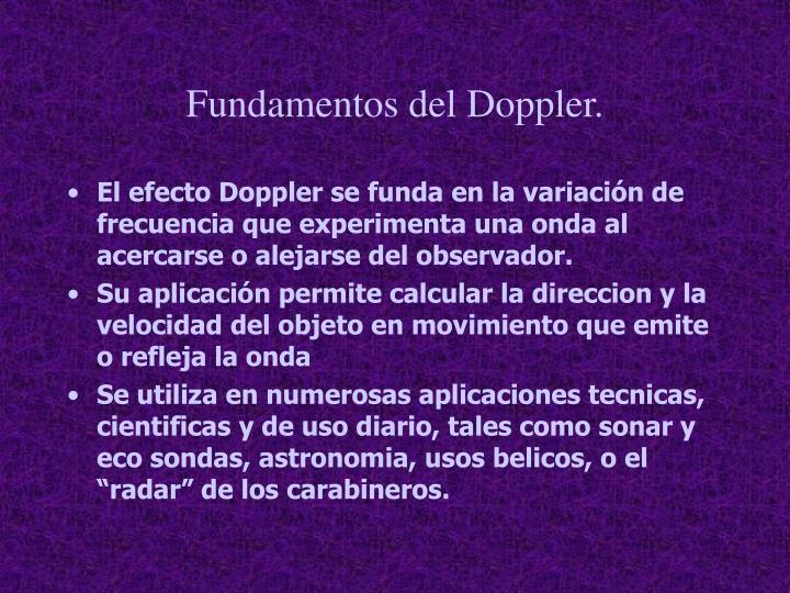Fundamentos del Doppler.