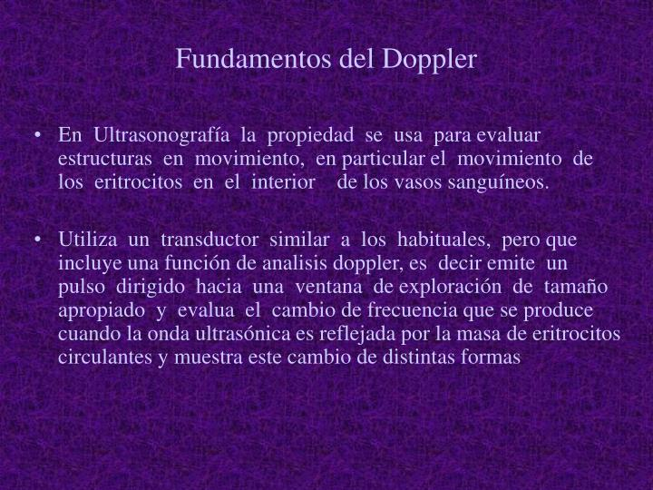 Fundamentos del Doppler