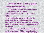 utilidad clinica del doppler