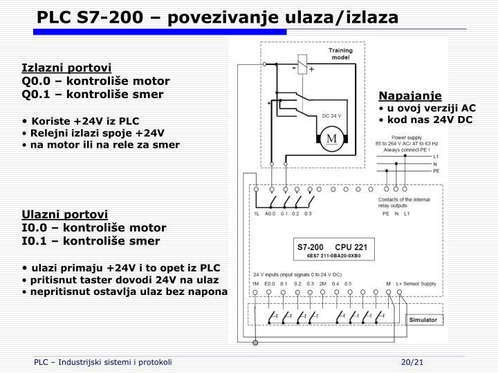 PLC S7-200 – povezivanje ulaza/izlaza