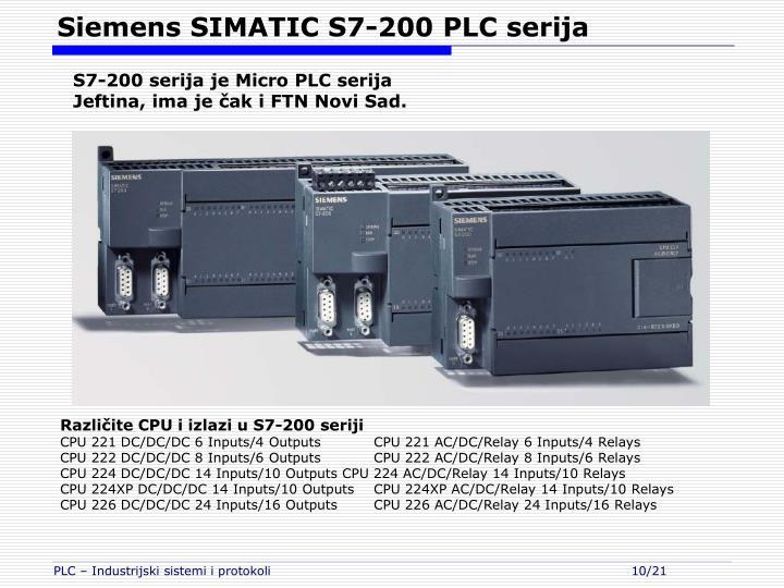 Siemens SIMATIC S7-200 PLC serija