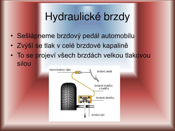 Hydraulické brzdy