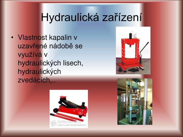 Hydraulická zařízení