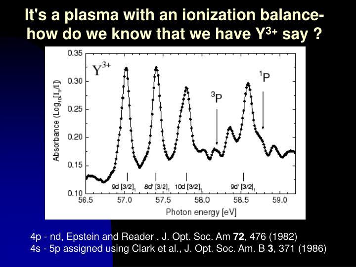 It's a plasma with an ionization balance-