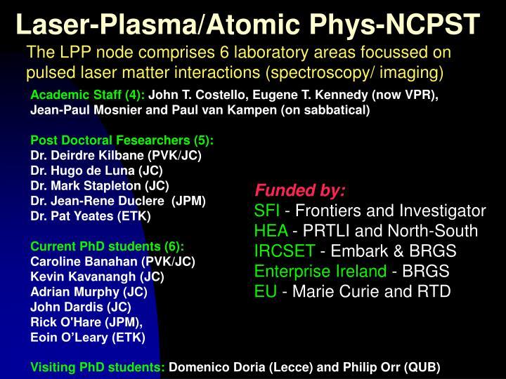 Laser-Plasma/Atomic Phys-NCPST