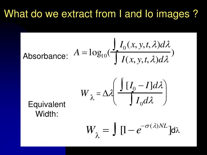 What do we extract from I and Io images ?