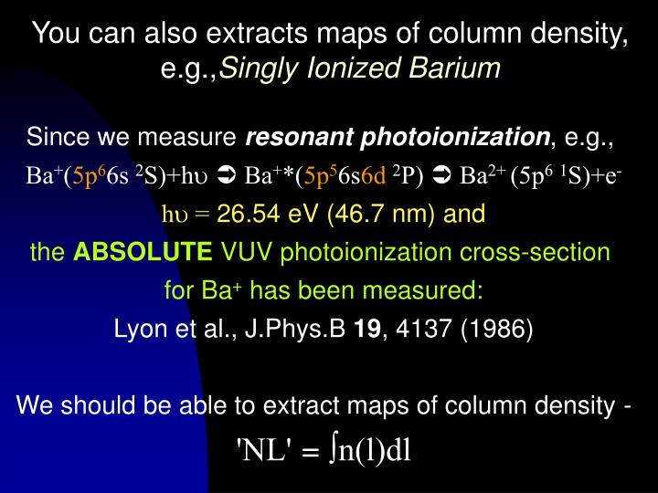 You can also extracts maps of column density,