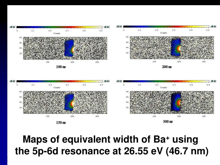 Maps of equivalent width of Ba