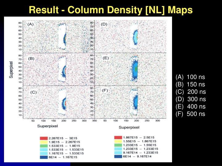 Result - Column Density [NL] Maps