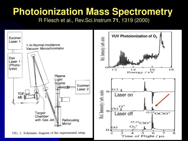 Photoionization Mass Spectrometry
