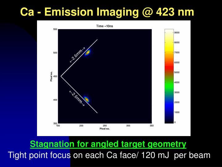 Ca - Emission Imaging @ 423 nm