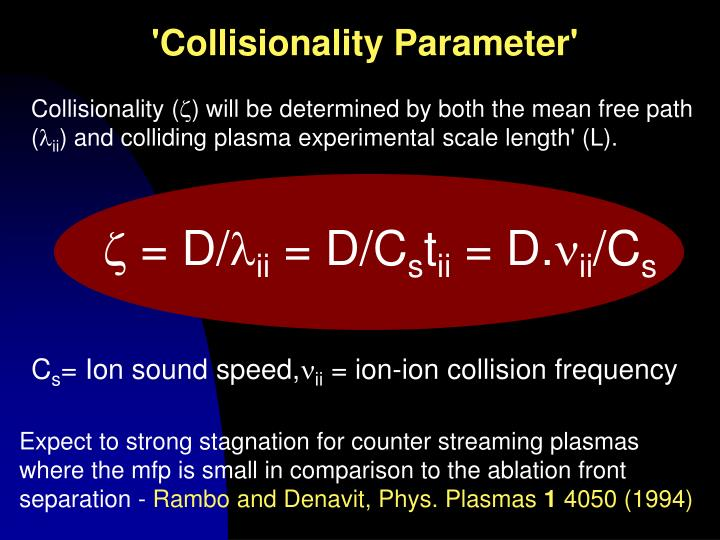 'Collisionality Parameter'