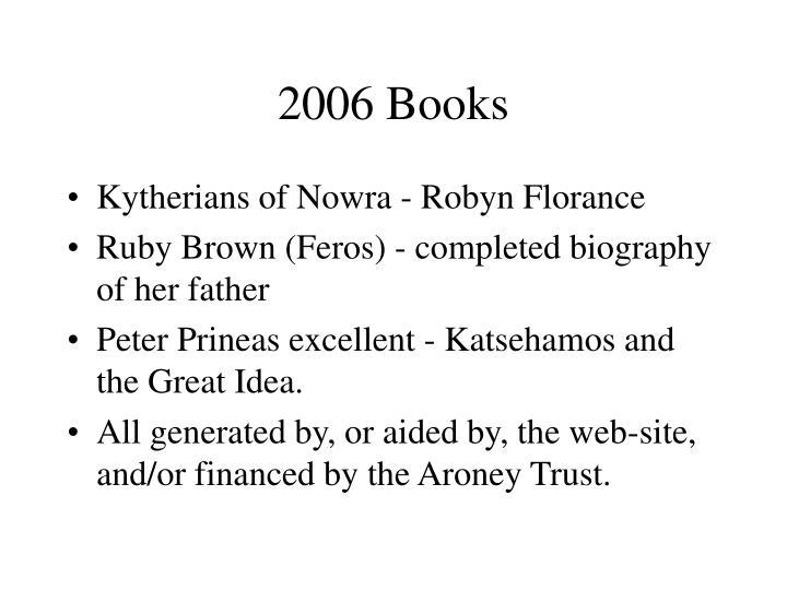 2006 Books