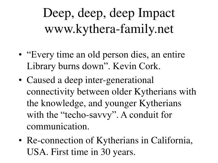 Deep, deep, deep Impact