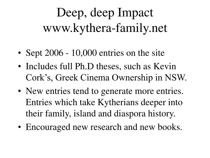 Deep, deep Impact