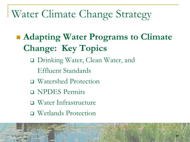 Water Climate Change Strategy