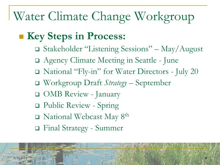 Water Climate Change Workgroup