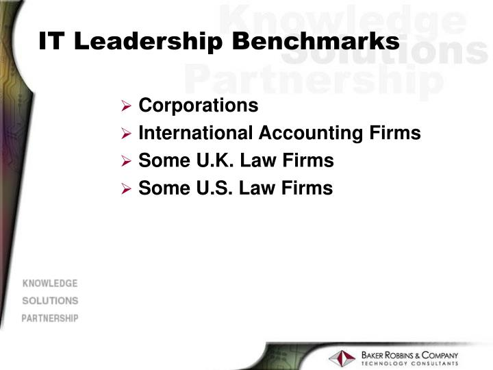 IT Leadership Benchmarks