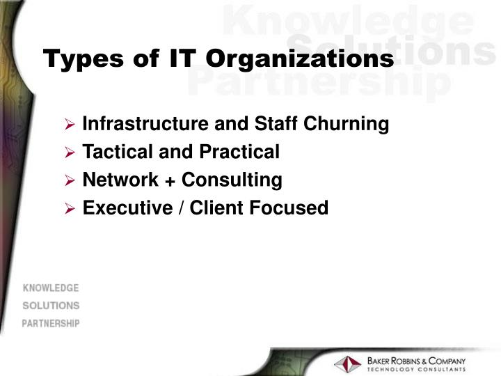 Types of IT Organizations