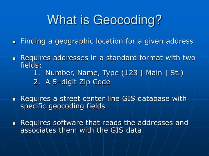 What is Geocoding?