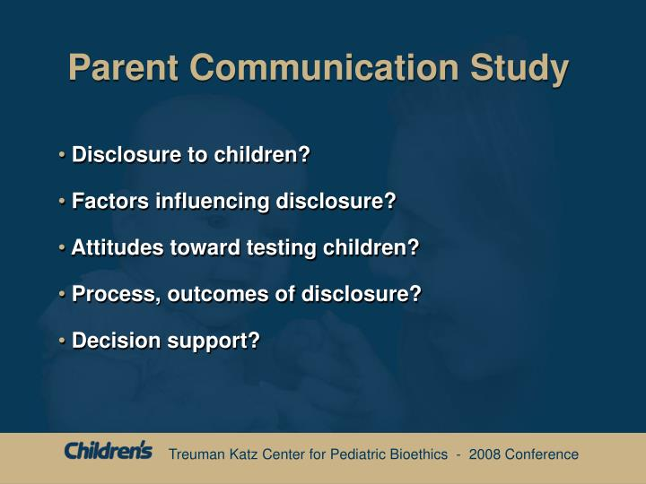 Parent Communication Study
