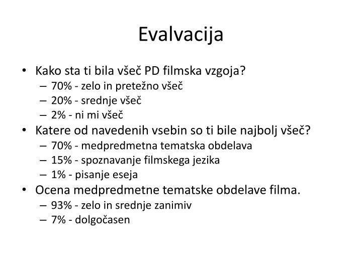 Evalvacija