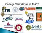 college visitations at mast