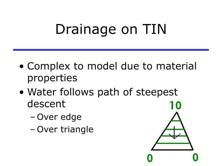 Drainage on TIN