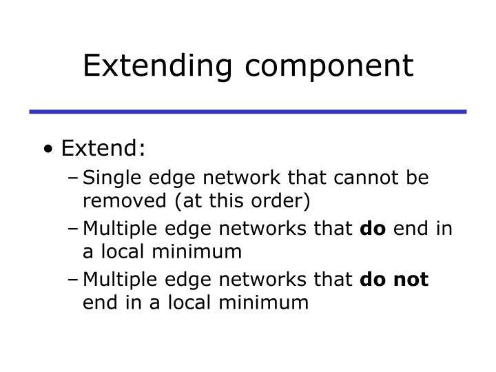 Extending component