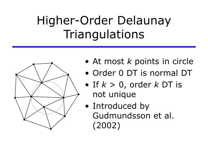 Higher-Order Delaunay Triangulations