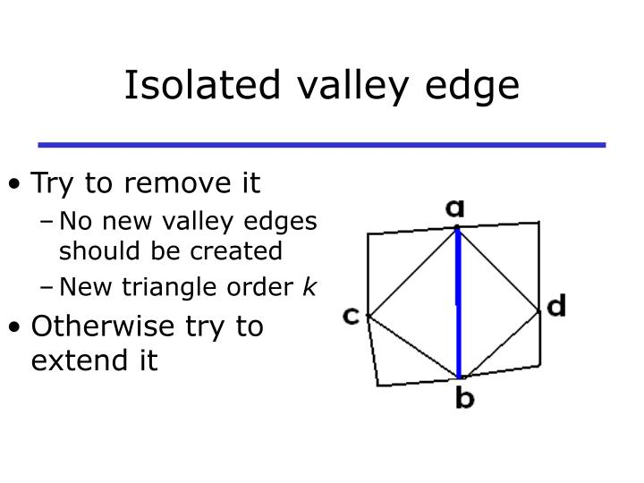 Isolated valley edge