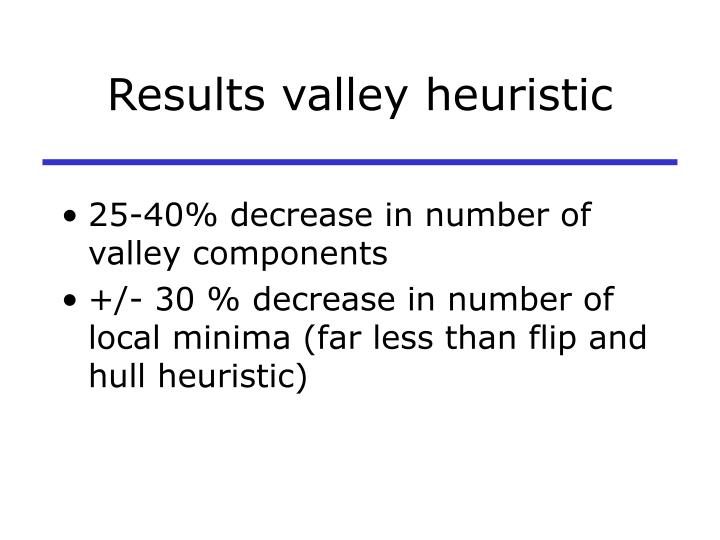 Results valley heuristic