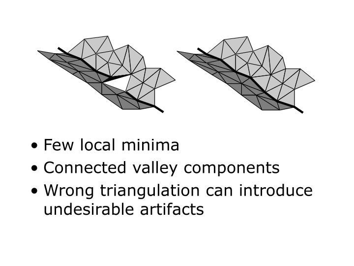Few local minima