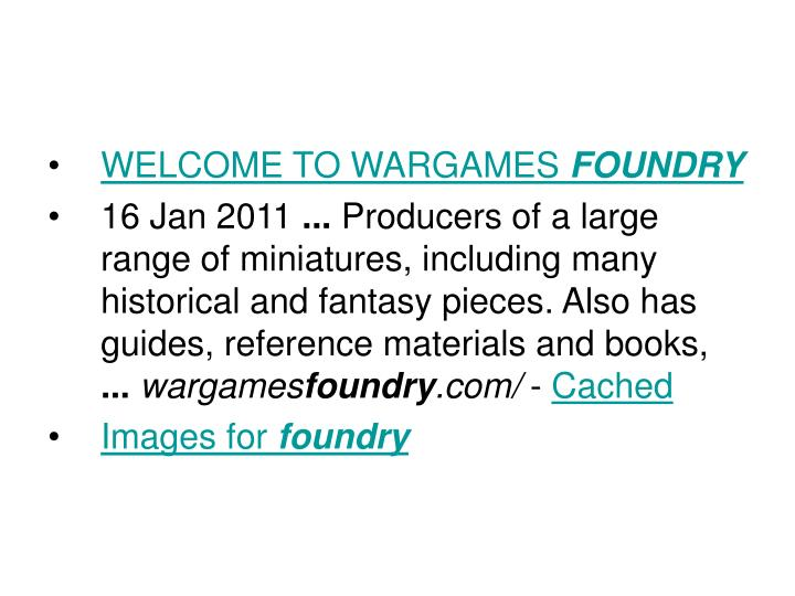 WELCOME TO WARGAMES