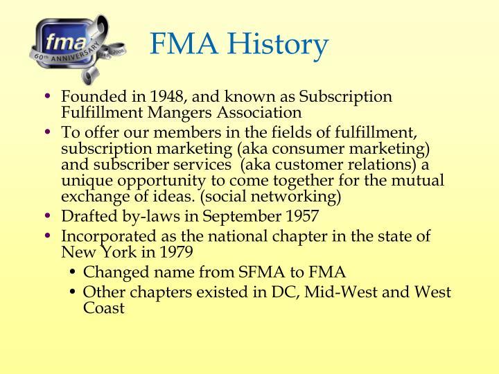 FMA History