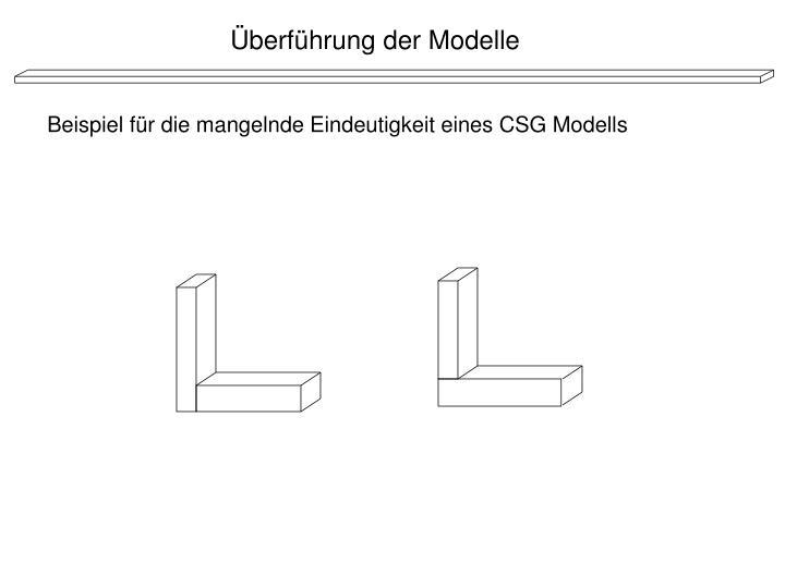 Überführung der Modelle