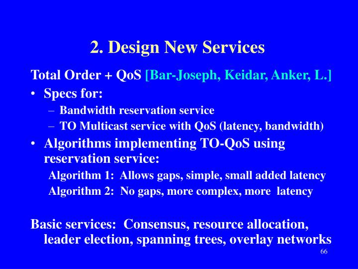 2. Design New Services