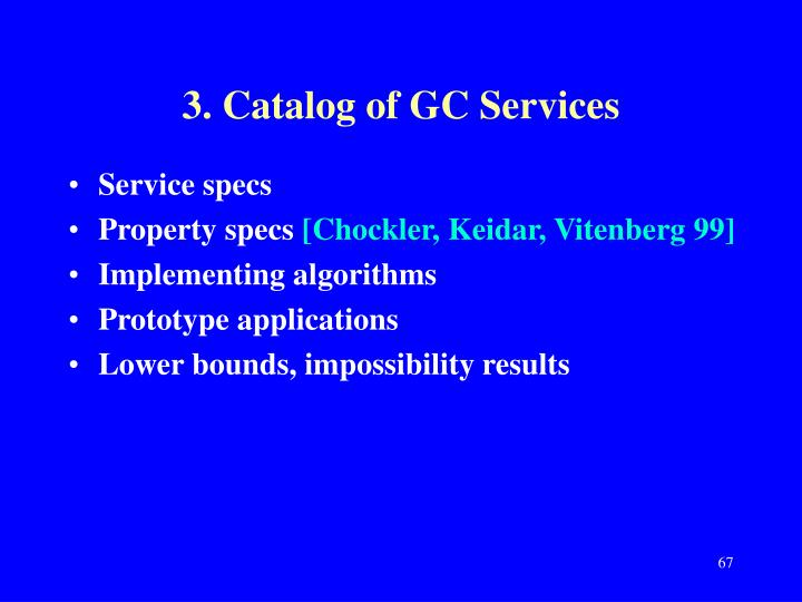 3. Catalog of GC Services