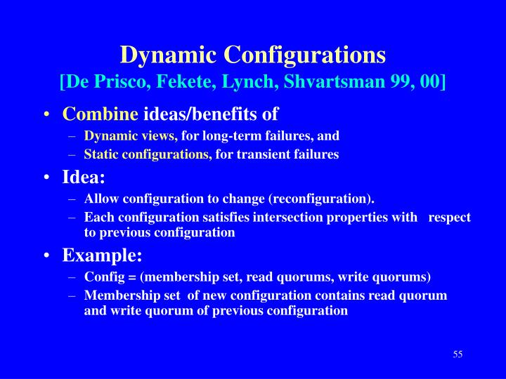Dynamic Configurations