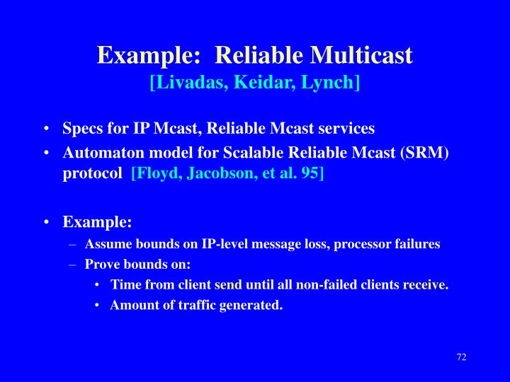 Example:  Reliable Multicast