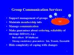 group communication services
