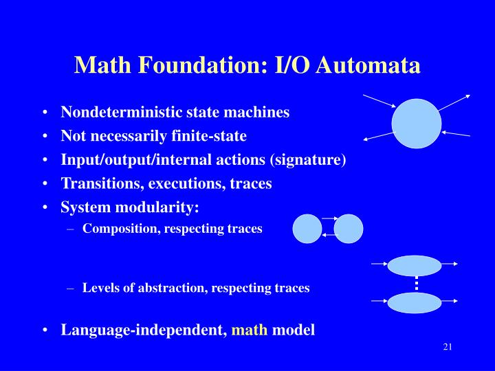 Math Foundation: I/O Automata