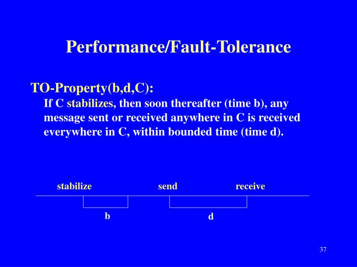 Performance/Fault-Tolerance