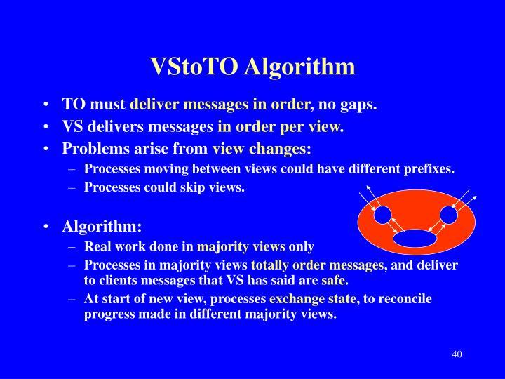 VStoTO Algorithm