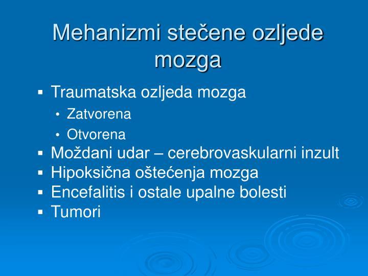Mehanizmi stečene ozljede mozga