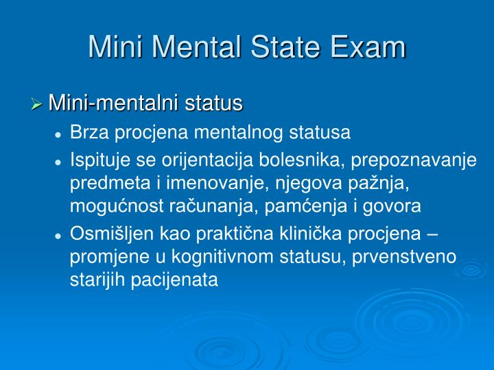 Mini Mental State Exam