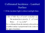 collimated incidence lambert surface