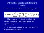 differential equation of radiative transfer3