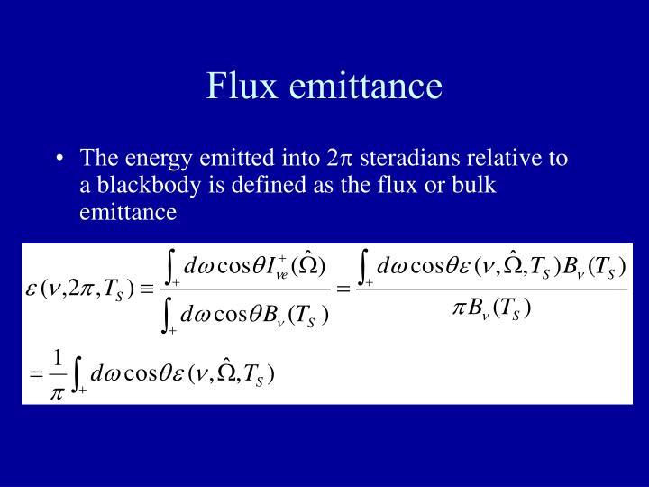 Flux emittance