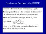 surface reflection the brdf
